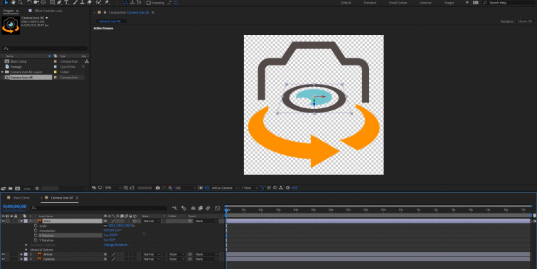 Adobe Illustrator Icon in After Effects