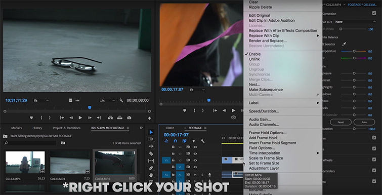 Video Tutorial: Better, Faster, Stronger Editing Tips — Reveal in Project
