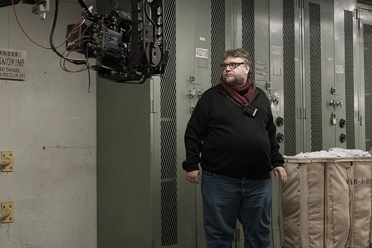 The Cameras and Lenses Behind 2018 Oscar-Nominated Films - Shape of Water Del Toro set