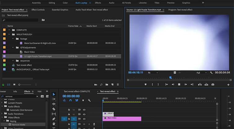 How to Use Light Leaks to Create Text Reveals in Premiere — Import Light Leaks