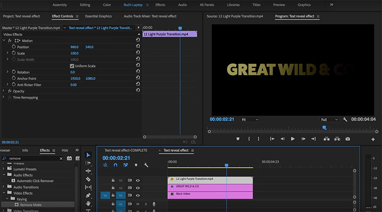 How to Use Light Leaks to Create Text Reveals in Premiere — Title Sequence