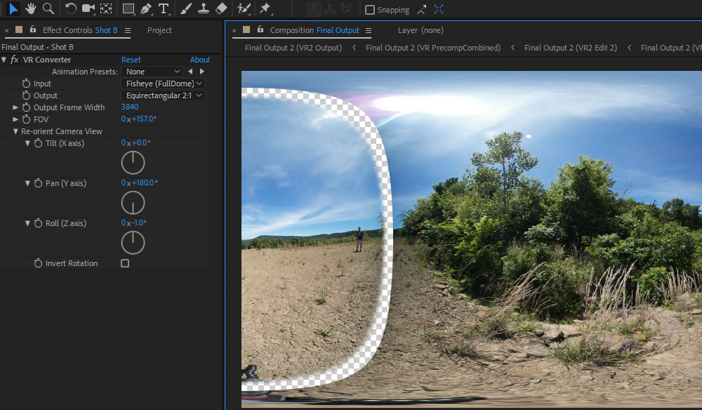 How to Stitch 360 Footage in After Effects - Cover Image