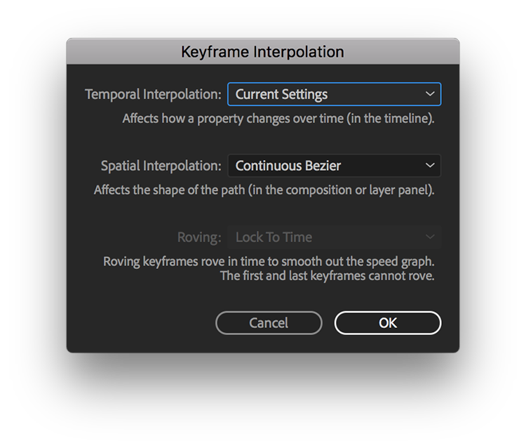 Adobe After Effects Keyframe Interpolation02