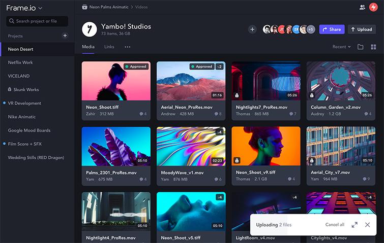 Frame.io Announces Massive Updates to Its Platform — Asset Support