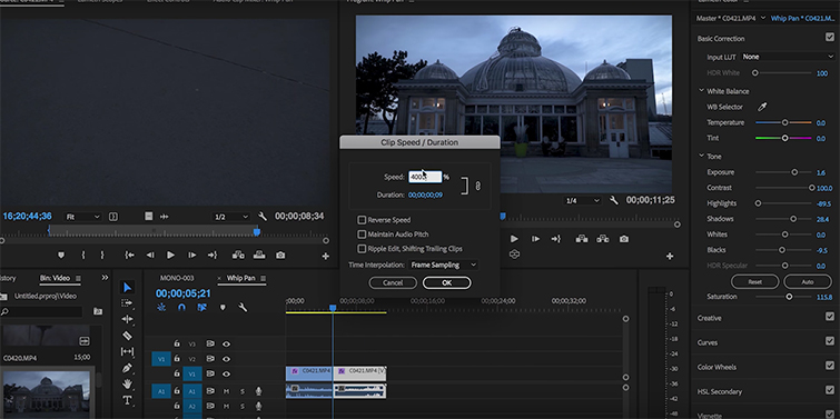 Create Seamless Transitions Using the Whip Pan — Time Ramping