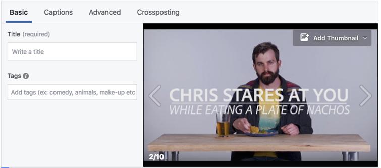 Tips for Creating the All-Important Video Thumbnail Cover Image — Facebook Thumbnail