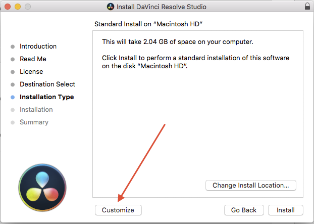 Install postgreSQL 95 on mac for Resolve