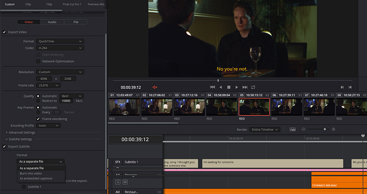 Revamped Text Features in the New DaVinci Resolve 15 — SRT Files