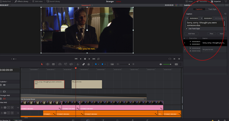 Revamped Text Features in the New DaVinci Resolve 15 — Captions