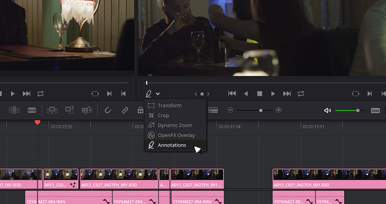 The New Features of DaVinci Resolve 15's Edit Page — Annotation Tool
