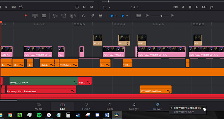 The New Features of DaVinci Resolve 15's Edit Page — Icon Names