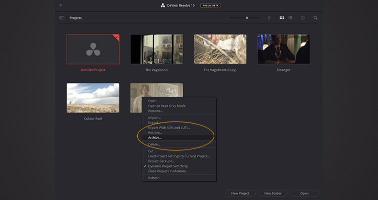 What You Need to Know about Working with Project Files in DaVinci Resolve — Transferring and Restoring