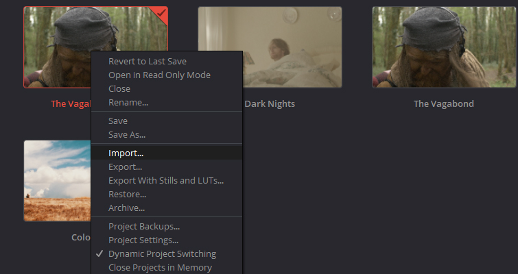 What You Need to Know about Working with Project Files in DaVinci Resolve — Import and Export