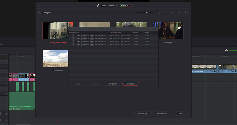 What You Need to Know about Working with Project Files in DaVinci Resolve — Individual Backups
