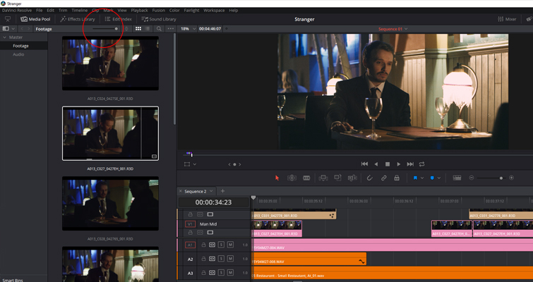 The New Features of DaVinci Resolve 15's Edit Page — Larger Thumbnails