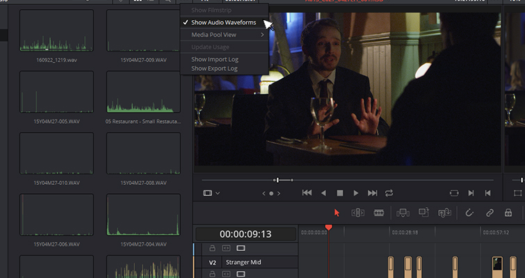 The New Features of DaVinci Resolve 15's Edit Page — Audio Waveforms