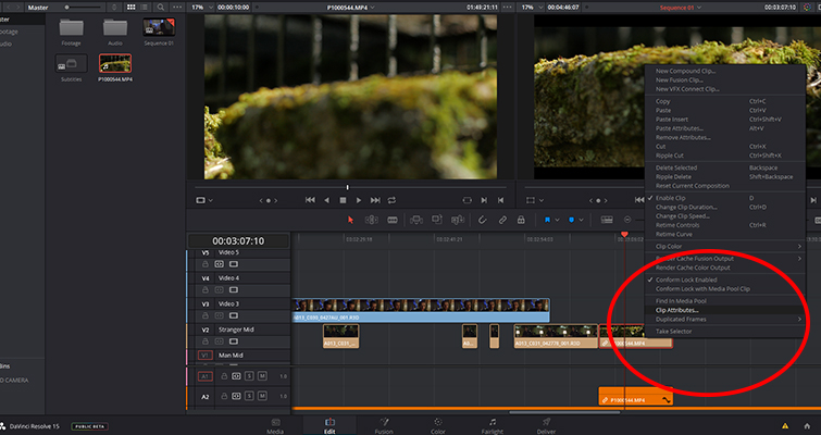 Get To Know DaVinci Resolve 15's Super Scale Feature — Clip Attributes