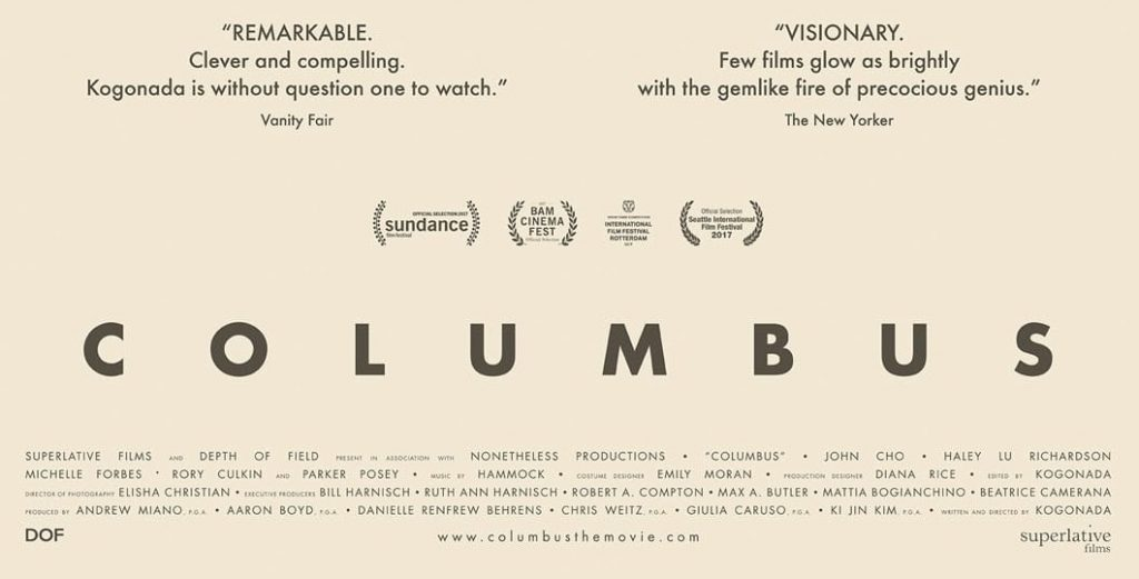 Columbus movie poster