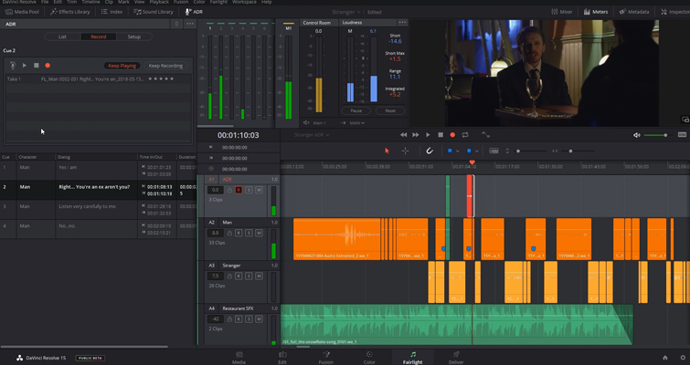Video Tutorial: How to Configure The ADR Panel in Resolve 15 — Record Panel