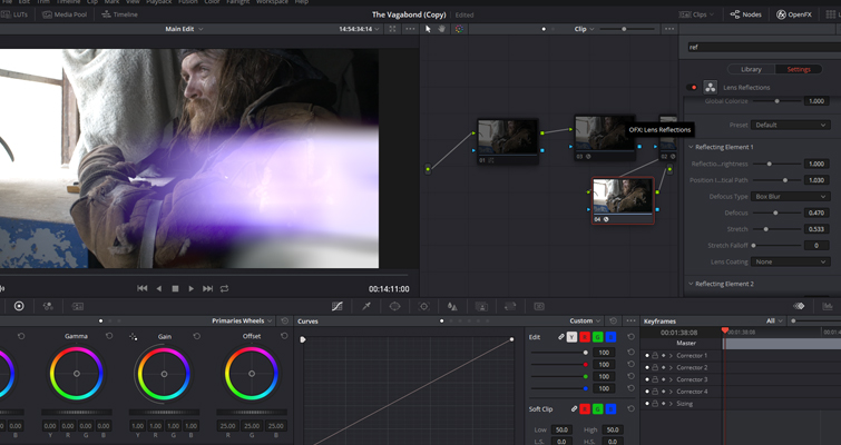 Resolve's Lens Reflections and Film Damage FX Analyzed — Reflection Effect
