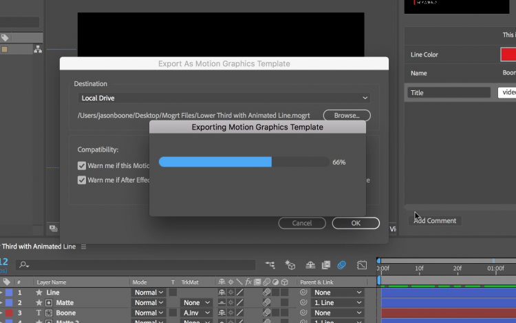 How to Create a Motion Graphics Template in Adobe After Effects — Export Template
