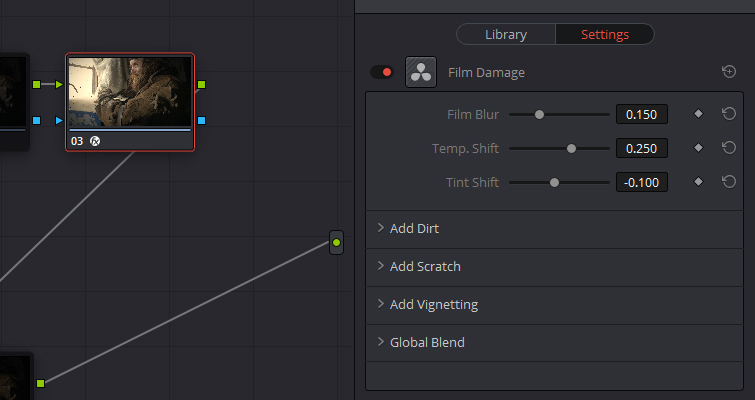 Resolve's Lens Reflections and Film Damage FX Analyzed — Control Panel