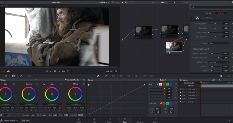 Resolve's Lens Reflections and Film Damage FX Analyzed — Preset
