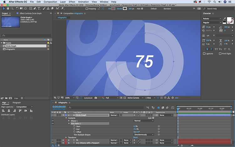 Video Tutorial: Create a Responsive Infographic in After Effects — Trim Paths