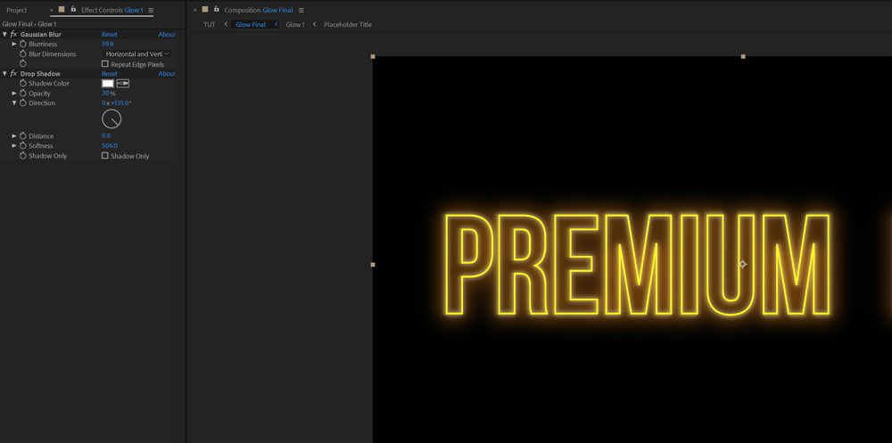 Make Your Titles And Graphics Pop with This Advanced Glow Effect — Radial Fast Blur