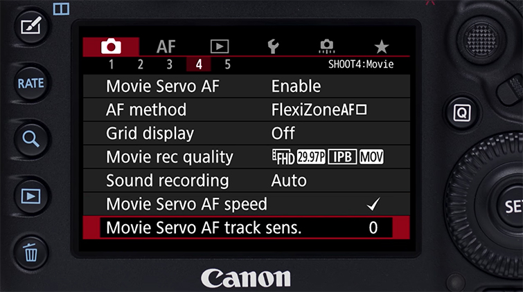 Using Canon 5D Mark IV's Auto-Focus While Shooting Video — Speed and Tracking Sensitivity