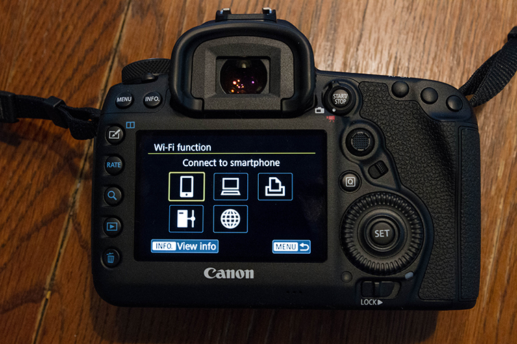 A Field Guide to the Canon 5D Mark IV's Built-in Wi-Fi — Smartphone