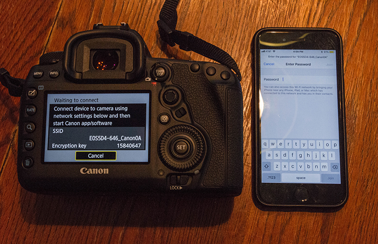 A Field Guide to the Canon 5D Mark IV's Built-in Wi-Fi — Smartphone Connection