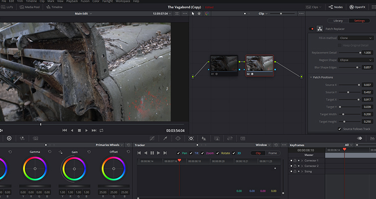 Remove Unwanted Shot Features with Resolve 15's Patch Replacer — Blur Sharp Edges