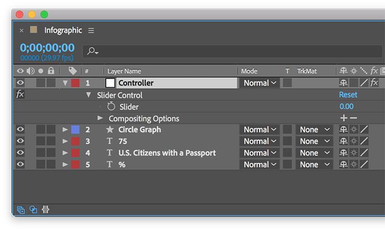 Video Tutorial: Create a Responsive Infographic in After Effects — Control Layer