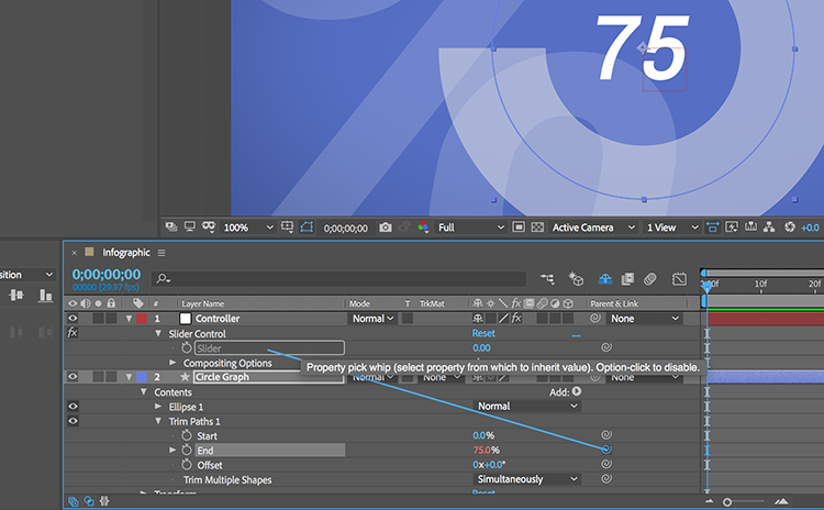 Video Tutorial: Create a Responsive Infographic in After Effects — Link Elements