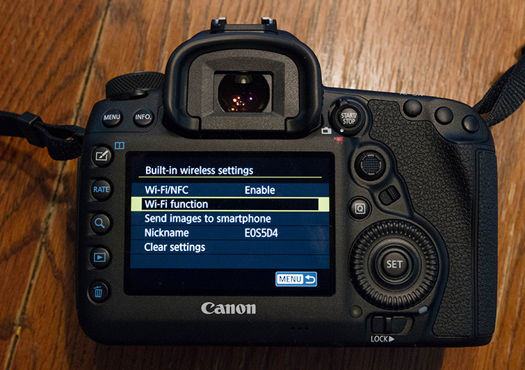 A Field Guide to the Canon 5D Mark IV's Built-in Wi-Fi — Wi-Fi