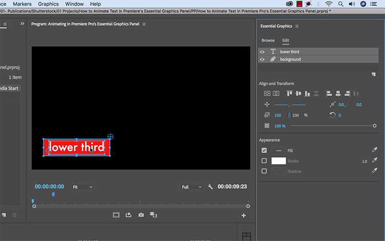 How to Animate Text in Premiere Pro's Essential Graphics Panel
