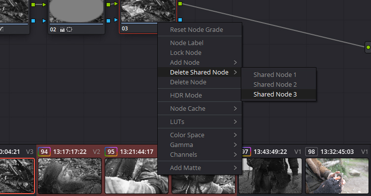 How To Use The Shared Node Feature In DaVinci Resolve 15 — Delete Shared Node