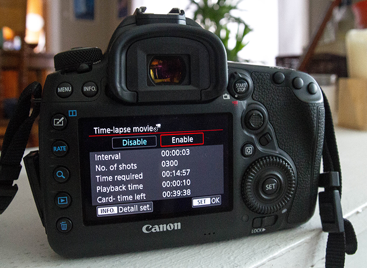 Harness the Power of the Canon 5D Mark IV's Built-in Intervalometer — Time-Lapse Enable