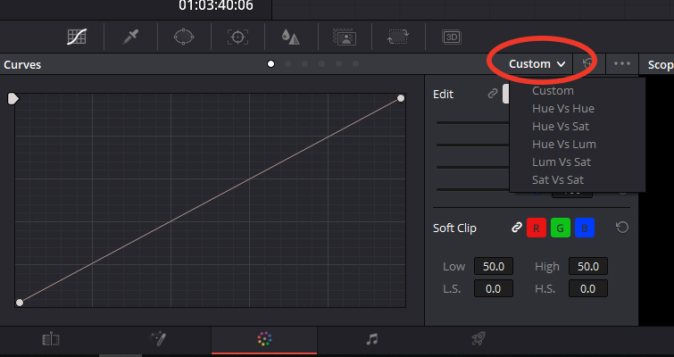 Color Grading: Working with Hue vs. Curves in DaVinci Resolve — Custom Menu