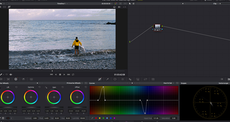 Color Grading: Working with Hue vs. Curves in DaVinci Resolve — Desaturation