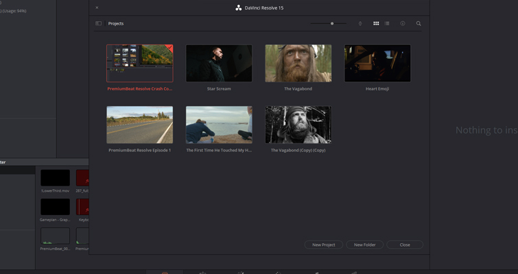 DaVinci Resolve 15 Video Crash Course — The Media Page — Creating a New Project