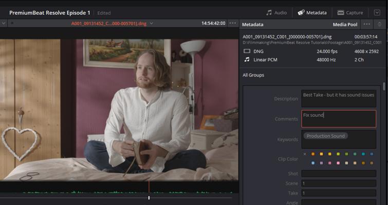 DaVinci Resolve 15 Video Crash Course — The Media Page — Fix Sound