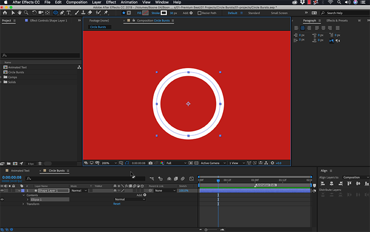 How to Create an Animated Circle Burst in Adobe After Effects — Create an Ellipse