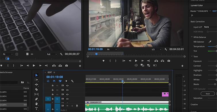 Video Editing 101: Using The J, K, and L Key Editing Shortcuts — J Key Shortcut