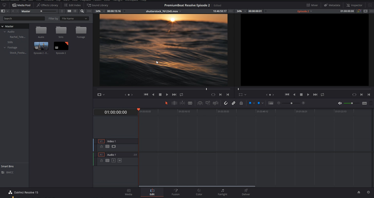 DaVinci Resolve 15 Video Crash Course — The Edit Page — Edit Page Overview