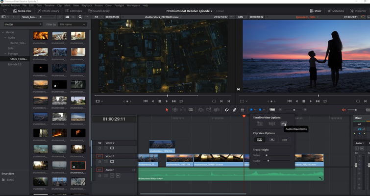 DaVinci Resolve 15 Video Crash Course — The Edit Page — Timeline View Options