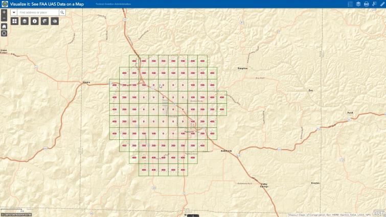 LAANC Drone Tutorial - FAA UAS Facility Map