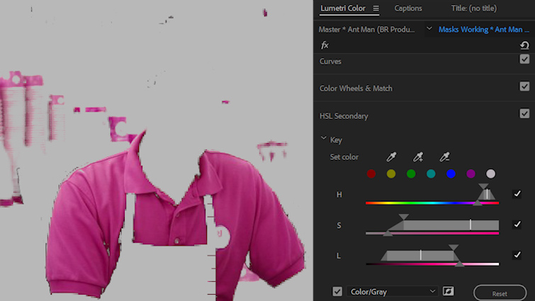 Improve Your Masks with Hue, Saturation, and Luminance Qualifiers — HSL Secondary Tab