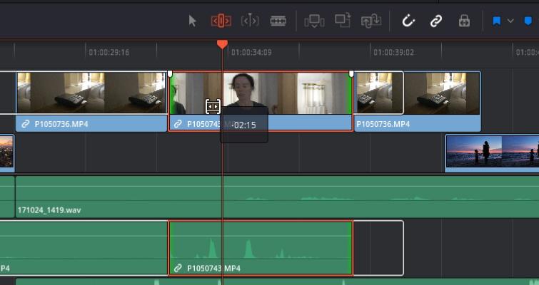 DaVinci Resolve 15 Video Crash Course — The Edit Tools — Slip Edit
